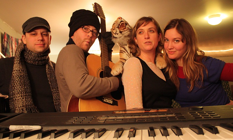 The Kinetiks are (from left) Phil Gratz, Jason Kniep, Rani Waugh and Spencer Goertz-Giffen.